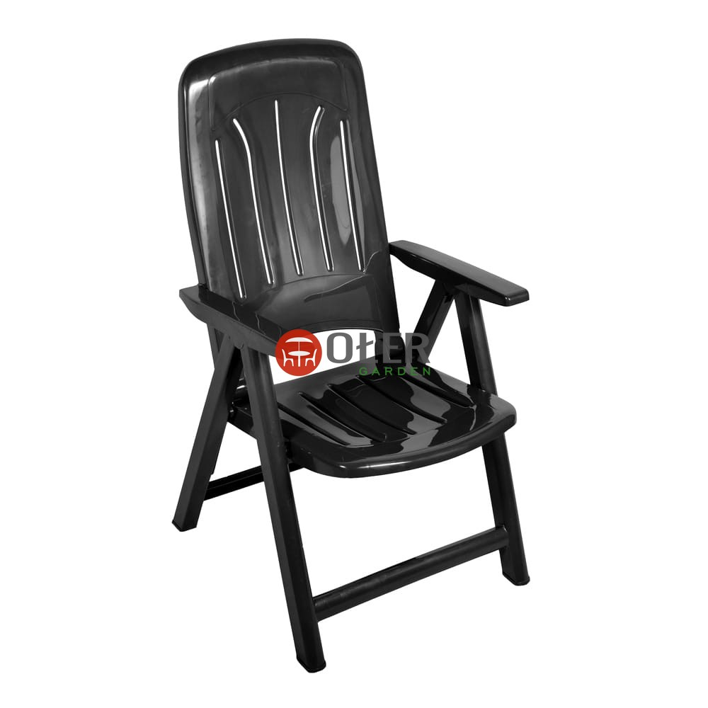 Fotel 5 Poz Plastikowy Grafit K