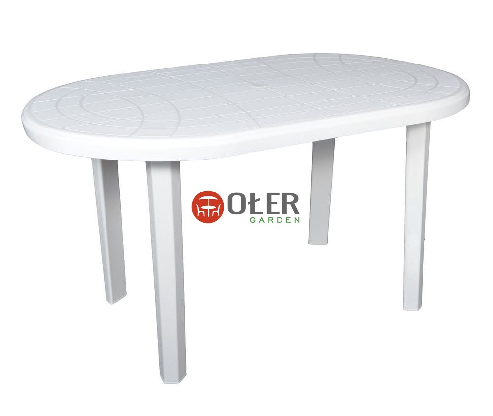 Stół Jantar Owalny 135x80cm Biały K