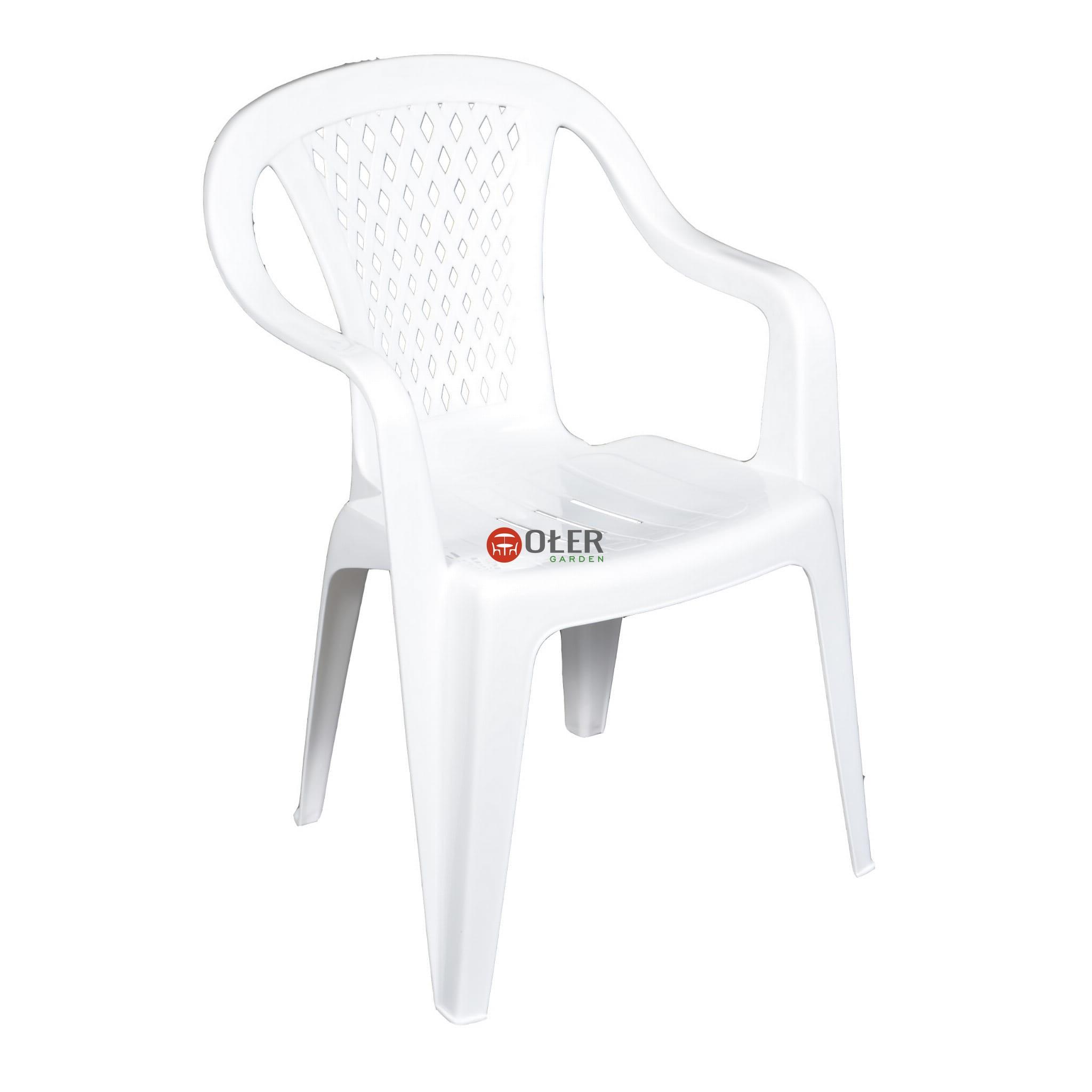 Fotel Diament Ogrodowy Biały K