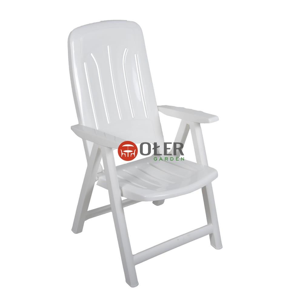 Fotel 5 Poz Plastikowy Biały K