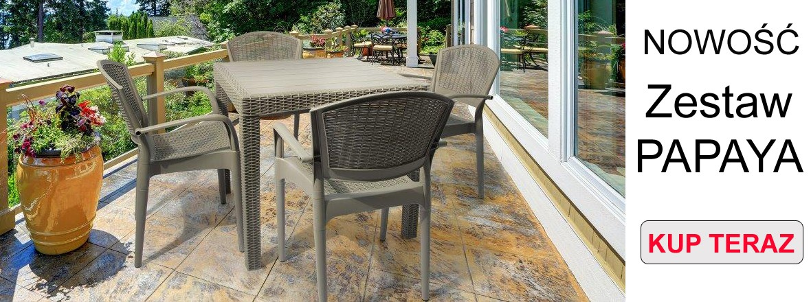 Meble Ogrodowe Plastikowe Krzesła Leżaki Stoły Parasole